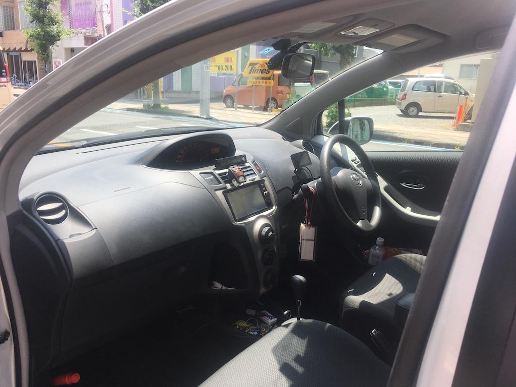 車内の様子。長距離の相乗りの際は後部座席だけ相乗り募集するそう。